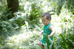 Summer baby boy Stock Images