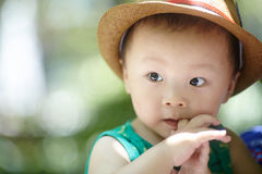 Summer baby boy Royalty Free Stock Images