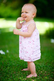 Summer baby girl Royalty Free Stock Photography