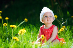 Summer Baby Girl Royalty Free Stock Photos