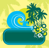 Summer backdround. With banner, vector Vector Illustration