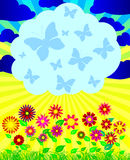 Summer background. Abstract background for the text, the poster, a banner, a signboard Stock Images