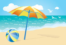 Summer background. Summer illustration. can be used as a background Royalty Free Stock Image