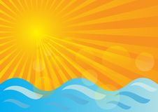 Summer Background royalty free illustration