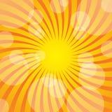 Summer Background. Twisted Yellow Sun Beams / Vector stock illustration