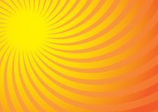 Summer Background. Yellow Rays on Gradient Background / Vector vector illustration