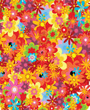 Summer background. Floral background made up of flowers Stock Photos