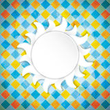 Summer background. Abstract seasonal vector Royalty Free Stock Images