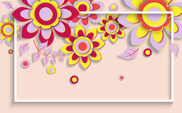 Summer background banner with beautiful flowers. Royalty Free Stock Photos