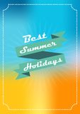 Summer background banner with the inscription Royalty Free Stock Images