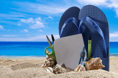 Summer background with beach accesories Royalty Free Stock Photography
