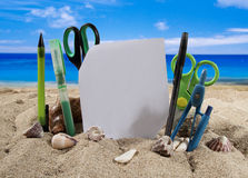 Summer background with beach accesories Royalty Free Stock Images