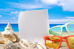 Summer background with beach accesories Royalty Free Stock Image