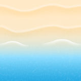 Summer background. With beach sand and sea stock illustration