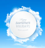 Summer background with blue sky and clouds. Royalty Free Stock Photography