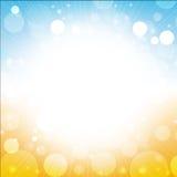 Summer background. Blur of sun sea blue sky beach illustration Royalty Free Stock Image