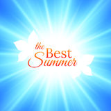 Summer Background with Bright Sun in the Sky. Vector design stock illustration