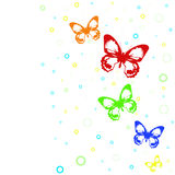 Summer background with butterflies. Stock Image