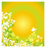 Summer background with butterfly Stock Photo