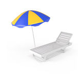 Summer Background Chair and Umbrella Royalty Free Stock Photography