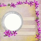 Summer background with circle frames Stock Images