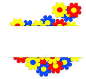 Summer background. Colorful celebration background with summer flowers.Vector Illustration Royalty Free Stock Image