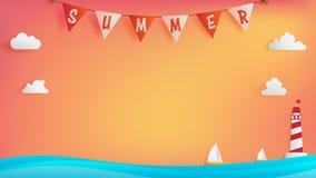 Summer background royalty free illustration