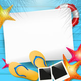 Summer background with empty paper Stock Image