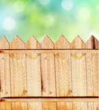 Summer background with fence Royalty Free Stock Photos