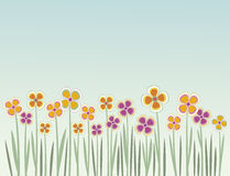 Summer background. Floral Summer Field Background with colorful flowers Stock Photography