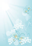Summer background with flowers and butterflies Royalty Free Stock Images