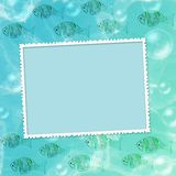 Summer background with frame Royalty Free Stock Image