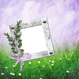 Summer background with frames Royalty Free Stock Photography