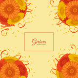 Summer background with Gerbera. Royalty Free Stock Photos