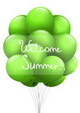 Summer background with green balls.Welcome summer. Royalty Free Stock Photos