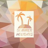 Summer background with logo Stock Image