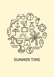 Summer background with logo. vector Royalty Free Stock Image