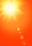 Summer background with magnificent summer sun. Burst with lens flare Stock Images