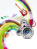 Summer background with musical instrument Stock Photos