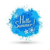 Summer background with paint splashes. Summer background with blue paint splashes Royalty Free Stock Image
