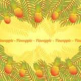 Palms and pineapples Royalty Free Stock Images