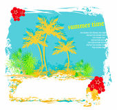 Summer background with palm trees Stock Photography