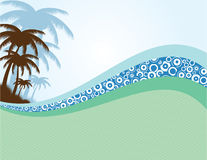 Summer background with palms Royalty Free Stock Photography