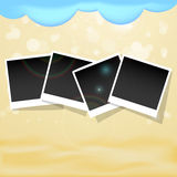 Summer background with photos frames Stock Photo