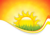 Summer background. With place for your content.Vector Royalty Free Stock Images