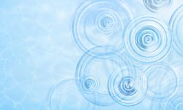 Summer background. Radial waves from a rain on water. Texture of water surface. Overhead view. Circles and rings on the. Puddle. Vector illustration nature Stock Photos