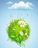 Summer background with rain Stock Image