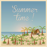 Summer background in retro style Stock Image