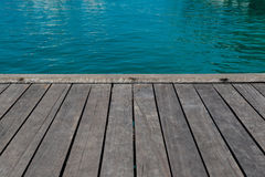 Summer background - sea and wooden pier Royalty Free Stock Photo