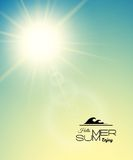 Summer background, summer sun with lens flare Stock Images